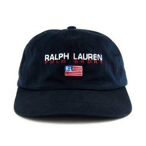 Rare Vintage Ralph Lauren Polo Sport Navy Cap Hat